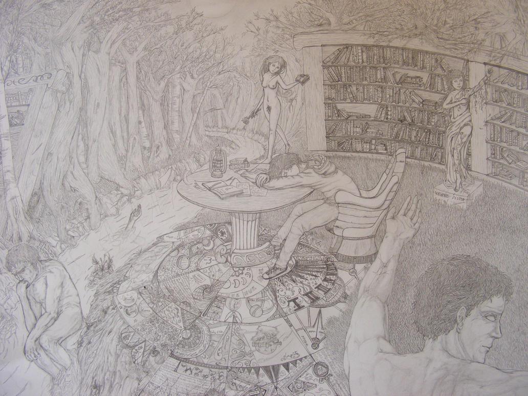arcanum bibliotheque by Kyu-eyes