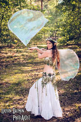 Forest fairy with Flag Poi Wings