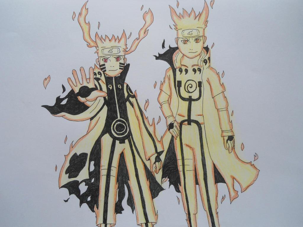 Naruto and Minato Bijuu Mode by Soki-AENaruto And Minato Bijuu Mode