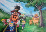 Child's Play from Zelda Spirit Tracks painting by orcsan