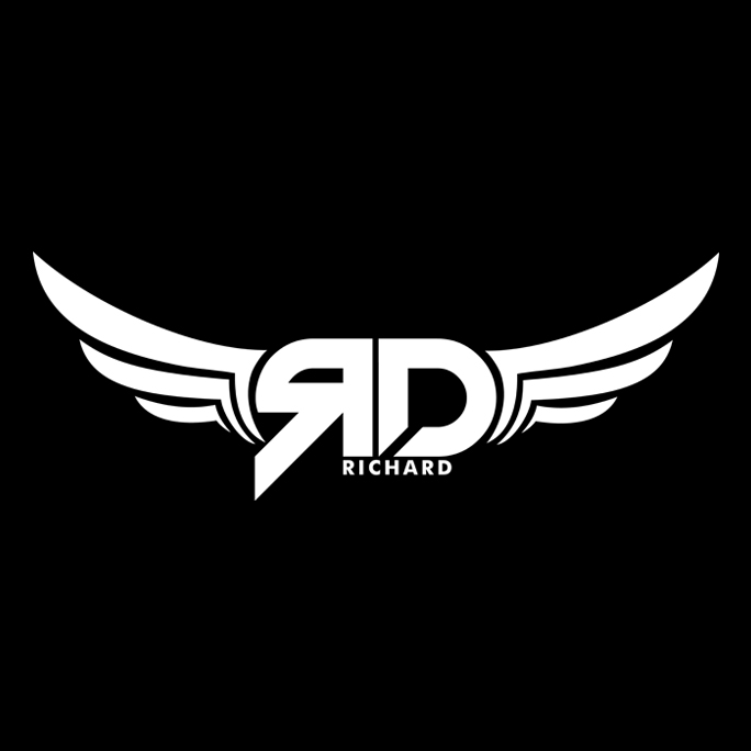 logo for dj rdrichard by sandeepnkf on deviantart