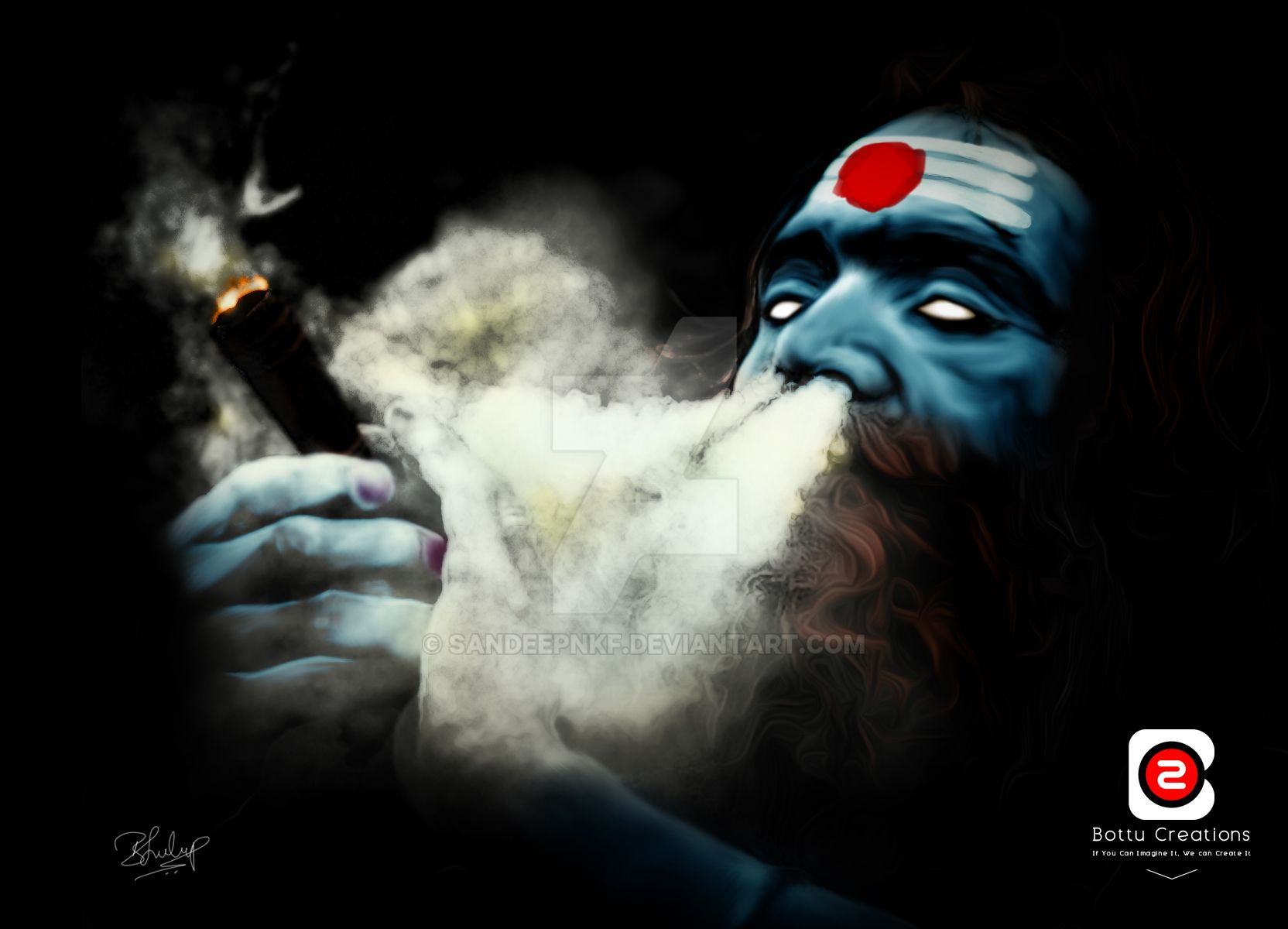 Lord Shiva Graphic Images: Lord Shiva Portrait By Bottu Creations By Sandeepnkf On