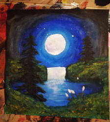 First attemp with acrylics