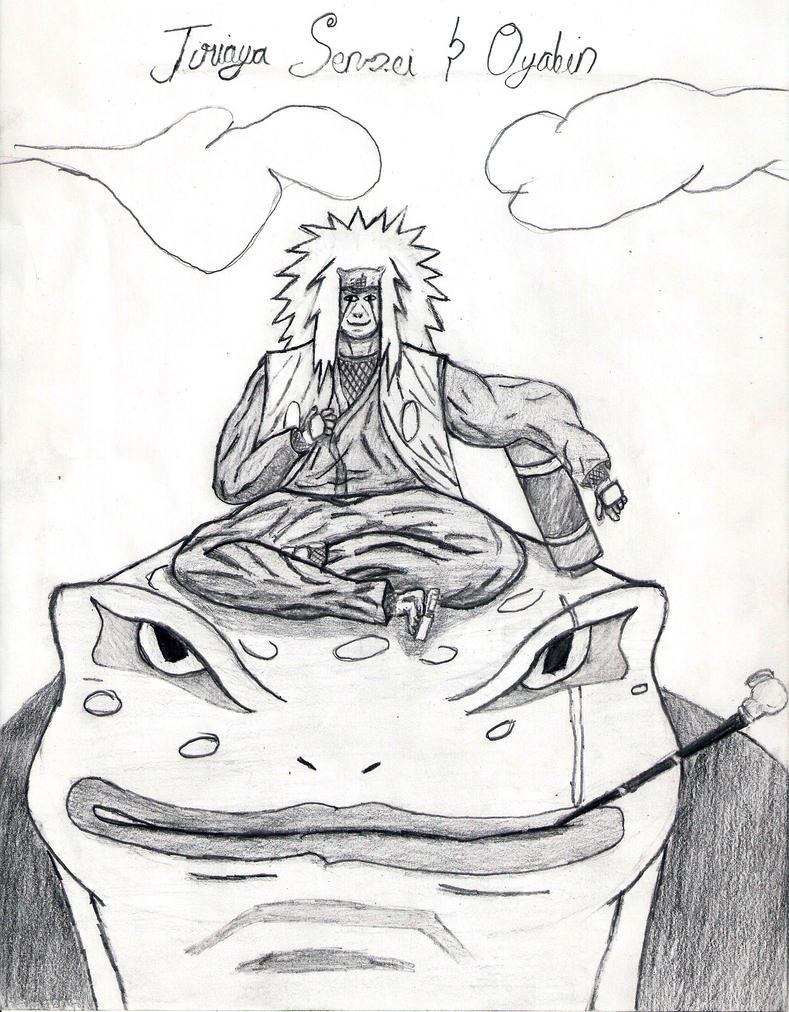 Jiraiya and oyabin by cj the pro jane on deviantart for Jiraiya coloring pages