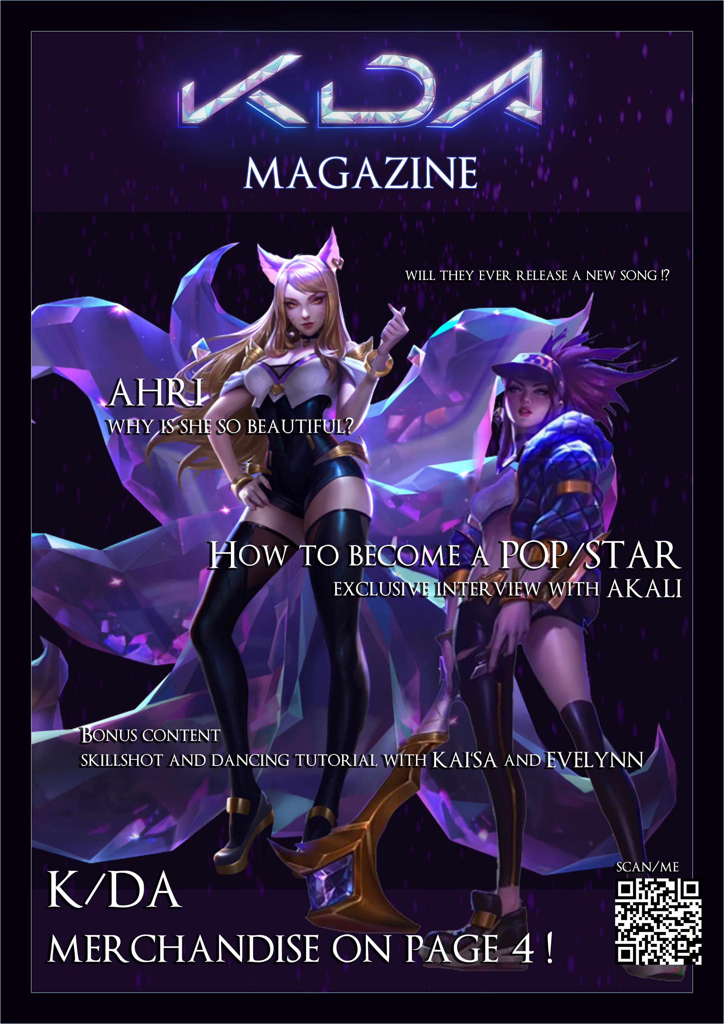 K Da Magazine Cover Page 1 Ahri Akali By Aldasorlp On Deviantart
