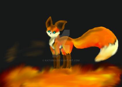 Fire-fox by Katurka