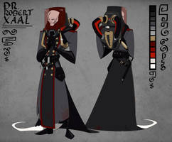 OC Doctor Xaal -ref-sheet- by CorNocte
