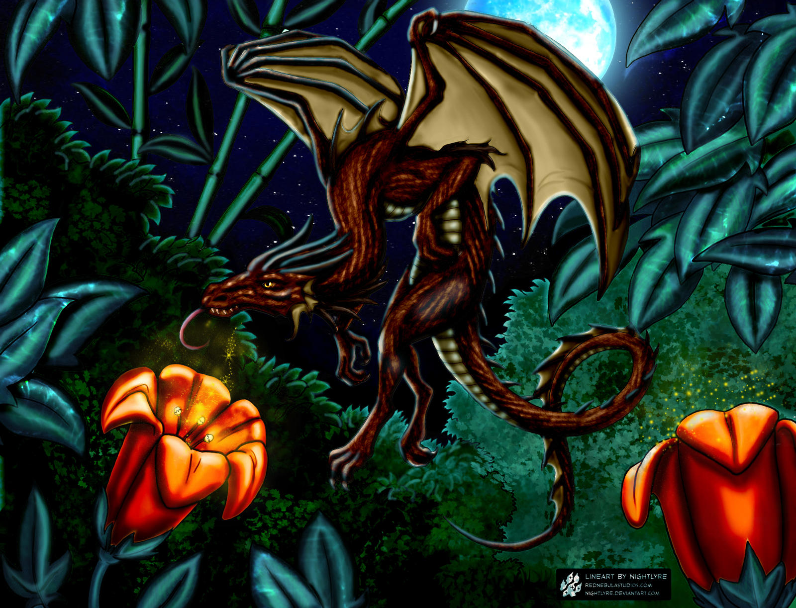 Mystic Gardens, the Dragons Academy Nightlyre by Aquilla-Whingate
