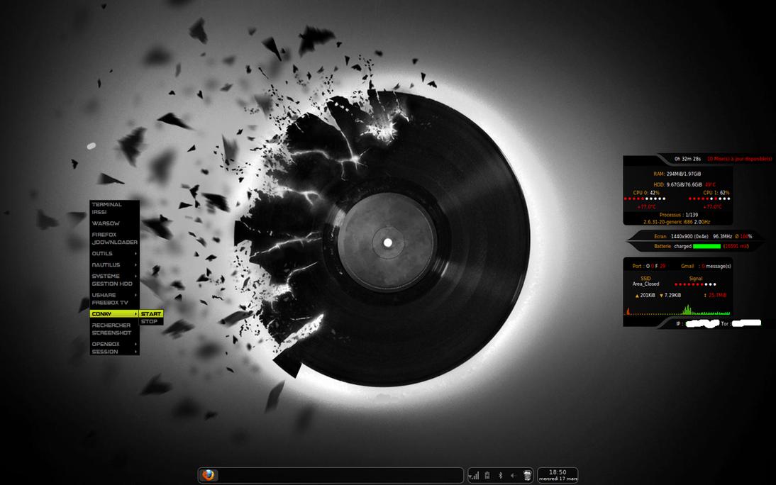 Ubuntu - Openbox - conky by z0rgTrue