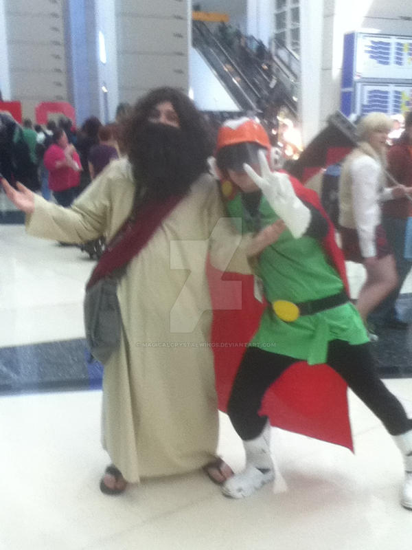Jesus and Saiyaman C2E2 2014 by MagicalCrystalWings