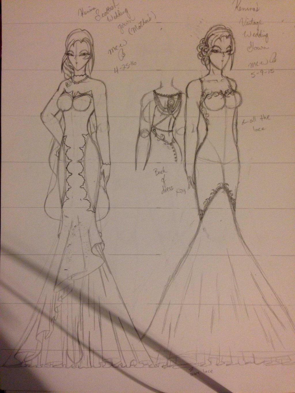 Kenina wedding dresses wip by MagicalCrystalWings