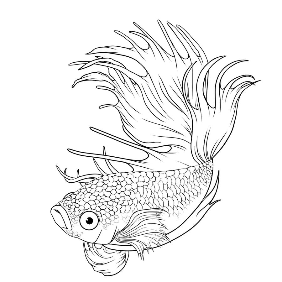 Betta splendens tattoo joy studio design gallery best for Betta fish coloring pages