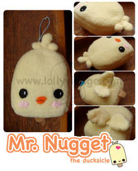 Mr Nugget the duckling plushie by fuzzy-jellybeans
