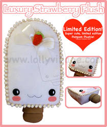 Luxury Strawberry Plush Lolly by fuzzy-jellybeans