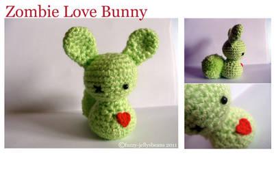 Zombie Love Amigurumi Bunny by fuzzy-jellybeans