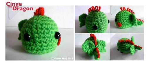 Cinge the Amigurumi Dragon by fuzzy-jellybeans