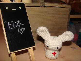 Japanese Red Cross Bunny by fuzzy-jellybeans
