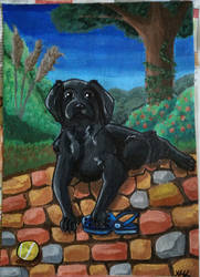Buddy painting - love for shoes by XMLara