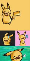 Moustache Pikachu by KoiGirlie