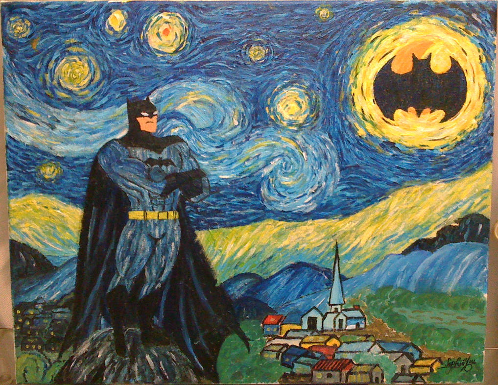 Calling on Batman on a beautiful starry night by sophiyou ...