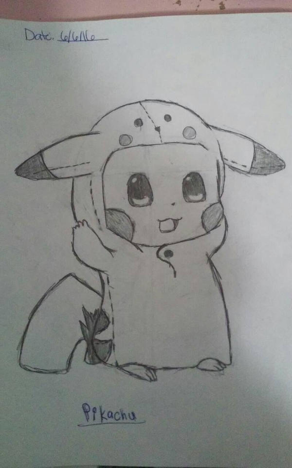 My Pikachu drawing by Kristy225