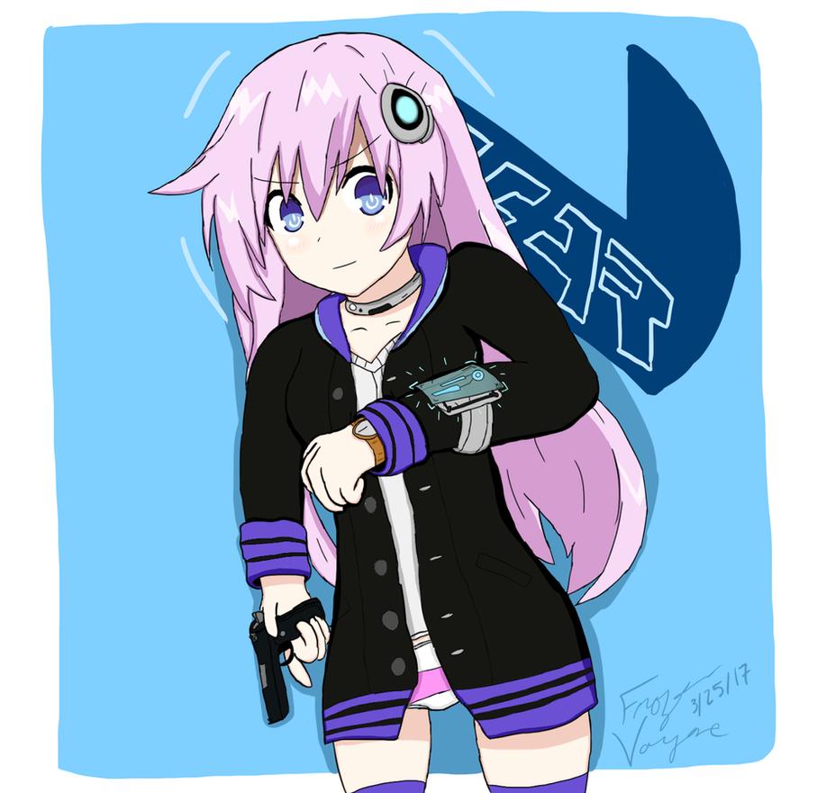 Adult Nepgear/Purple Sister (Neptunia) by FrozenVayne