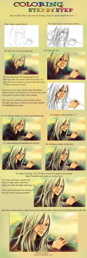 Coloring step by step
