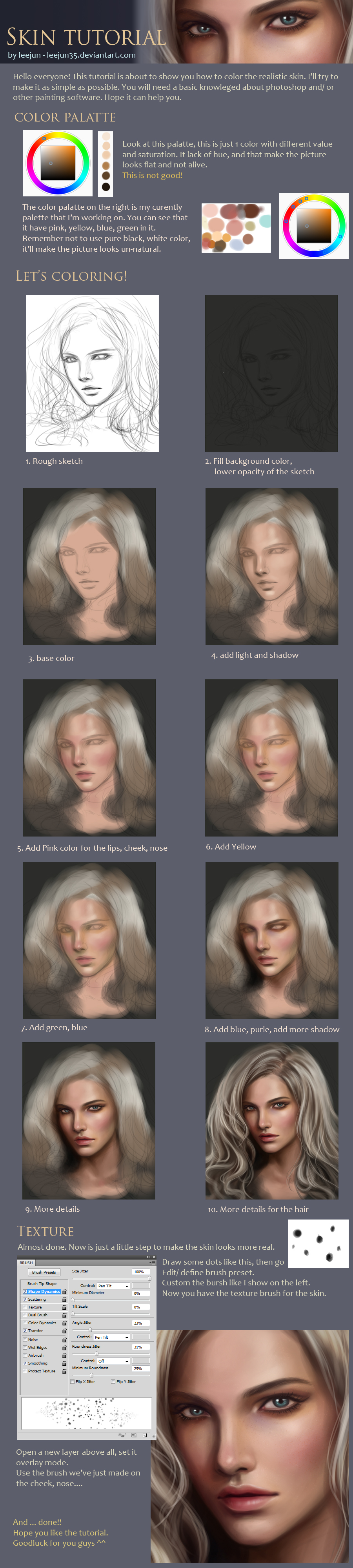 skin tutorial by leejun35