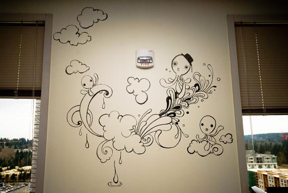 My first wall drawing by yujai on deviantart - Things to put on a wall ...