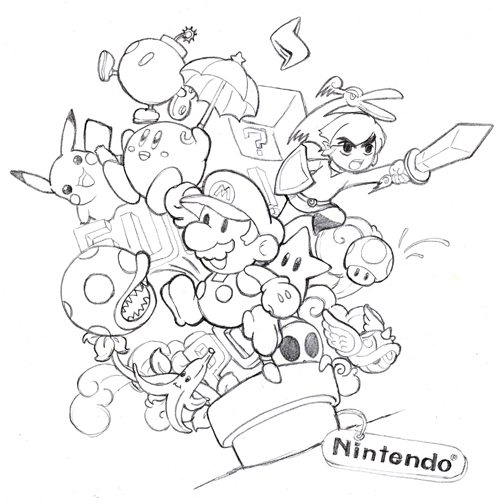 coloring pages nintendo characters - photo#32