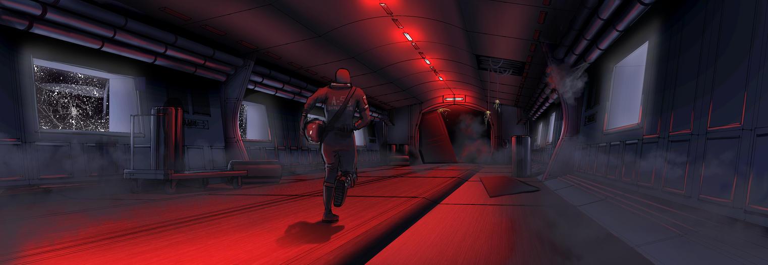 Spaceship evacuation by DenisMocanu