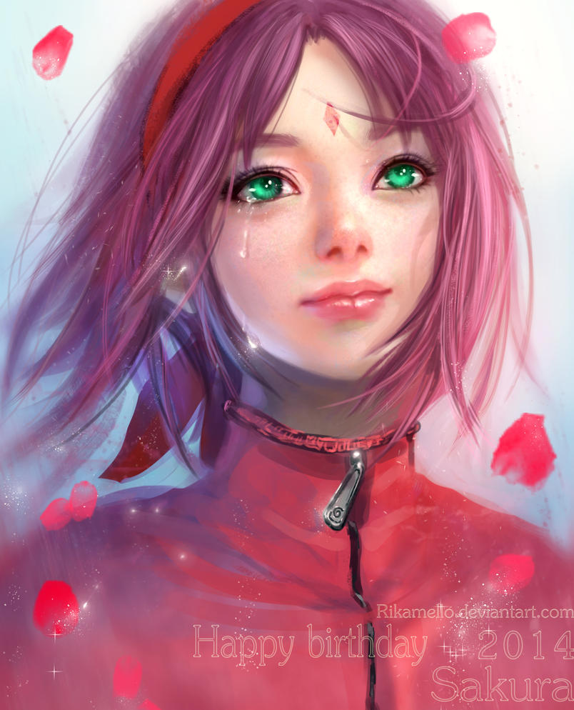 Sakura Haruno Happy Birthday 2014 By Rikamello On Deviantart