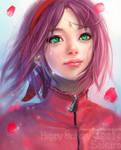 Sakura Haruno:happy birthday 2014! by RikaMello