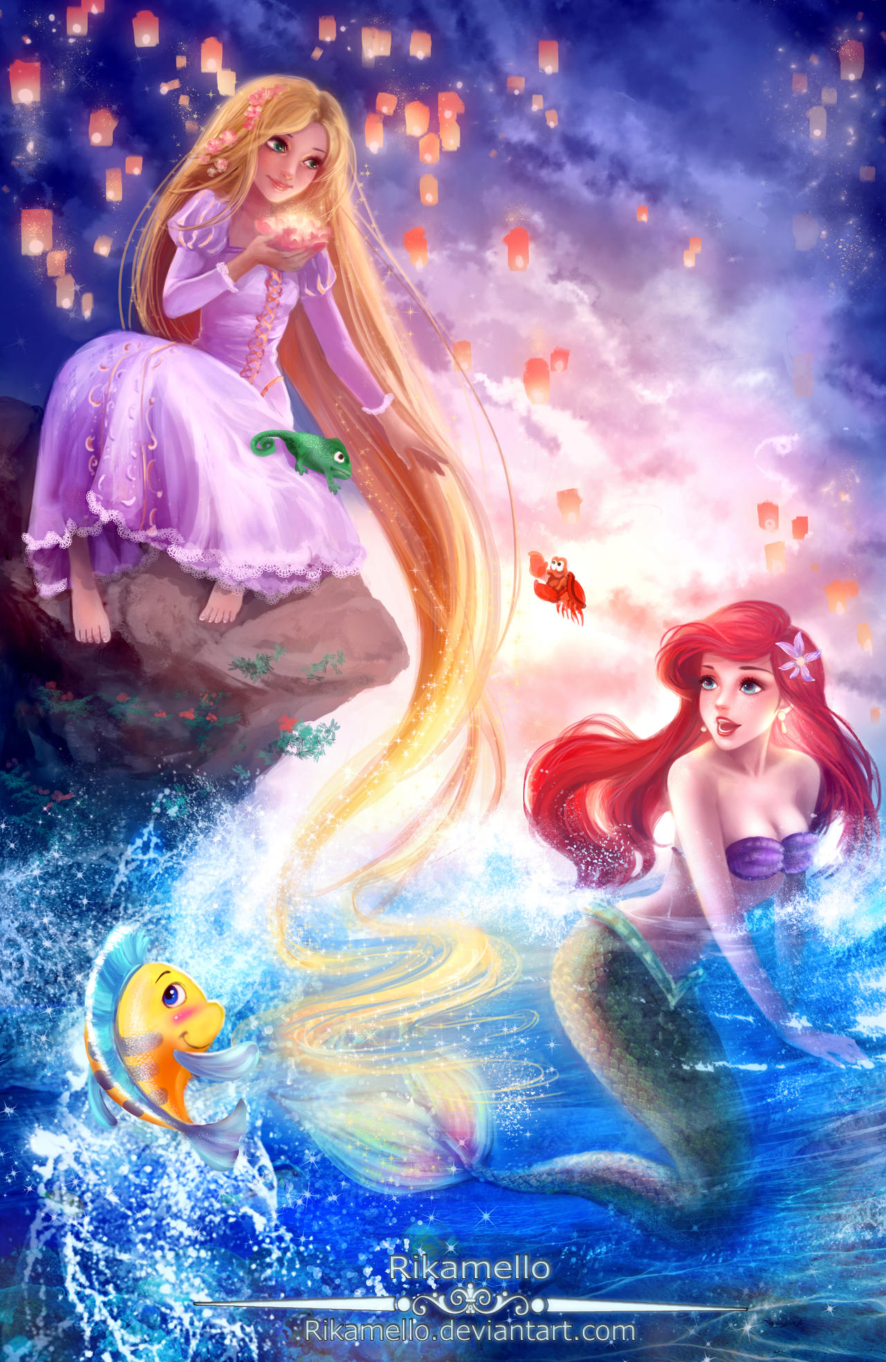 Rapunzel Let Down Your Hair For Ariel By Rikamello On