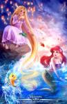 Rapunzel,Let down your hair for Ariel!