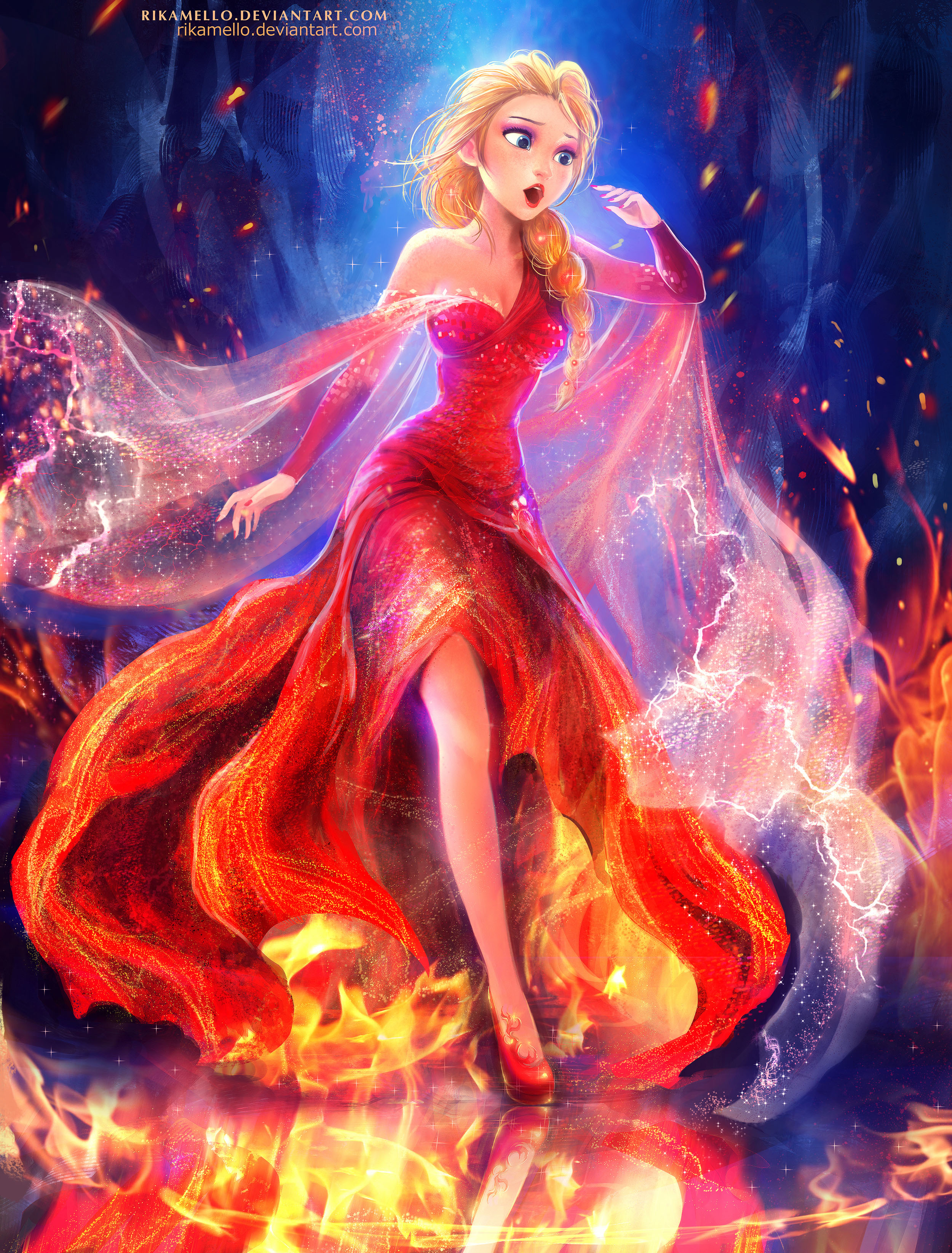 Queen Tv Movie Elsa The Queen On Fire By Rikamello Duiu