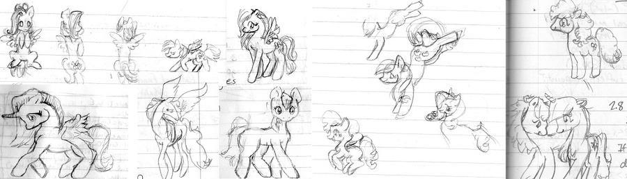 Mane ponies by QueenAnneka