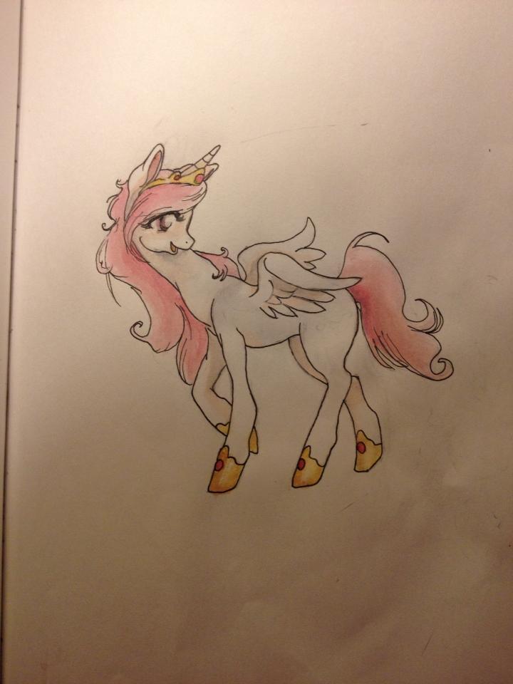 Celestia foal by QueenAnneka