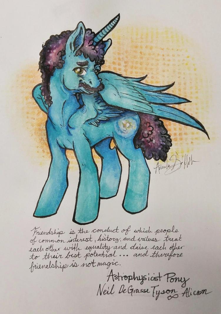 Neil Degrasse Tyson My Little Pony by QueenAnneka