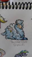 OC alpaca: Thunder Fluff by QueenAnneka