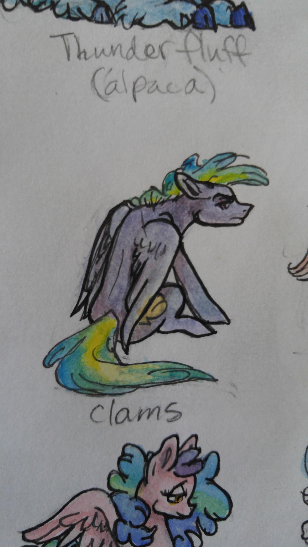 OC pony: Clams by QueenAnneka