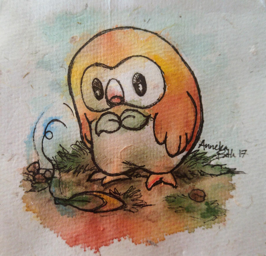 Pokemon: Rowlet attack missed by QueenAnneka