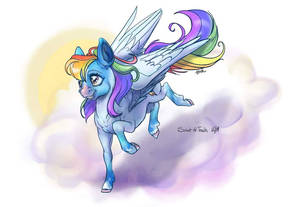 Rainbow Dash with roan markings.