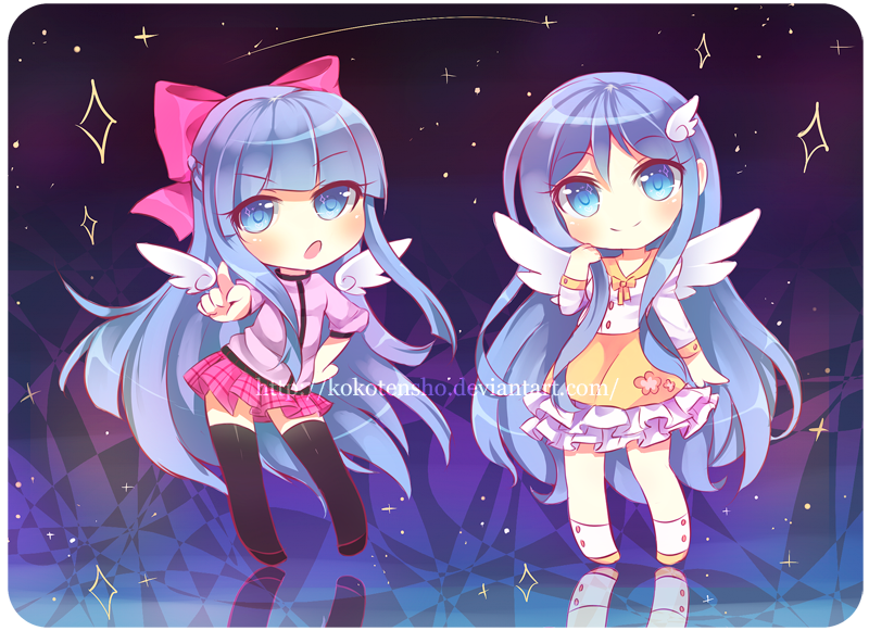 Com: Tsubaki and Luna by KokoTensho