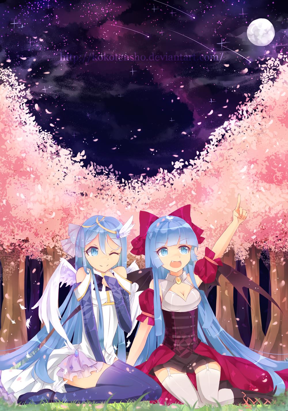 Comm:Luna and Tsubaki by KokoTensho