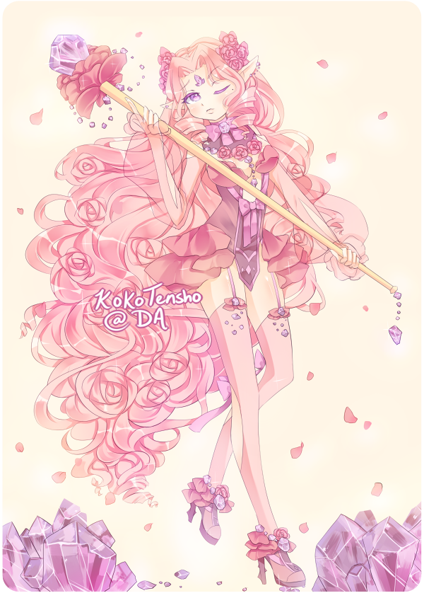 Rose quartz adopt [CLOSED] by KokoTensho