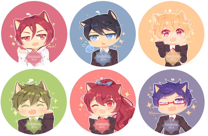 Free! buttons by KokoTensho
