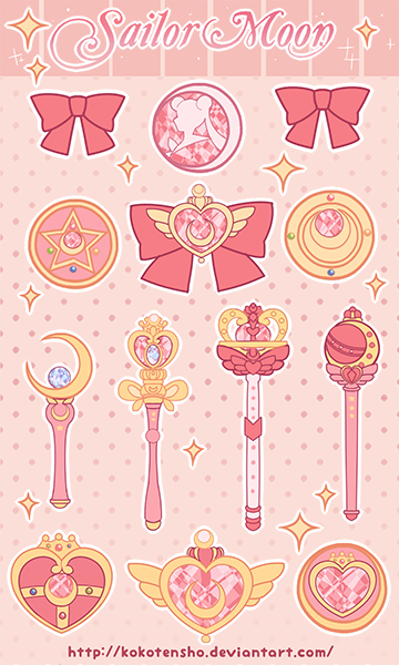Sailor Moon Stickers By Kokotensho On Deviantart