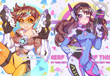 Tracer and Dva by KokoTensho