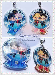 YURI ON ICE Glitter Charms by KokoTensho